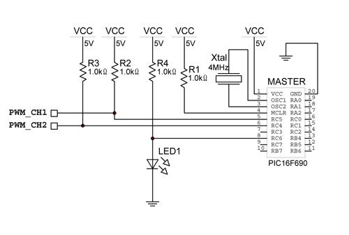 Схема программатора для pic16f690